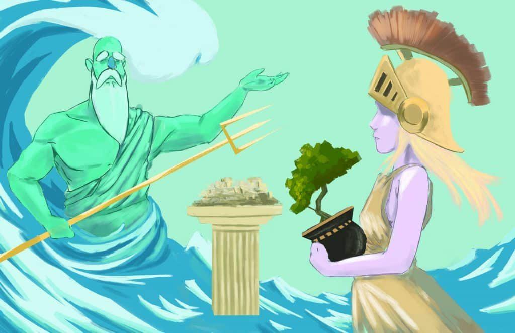 jordan mitchell athena and poesidon flat 1 | Athena'nın Acı İntikamı: Medusa