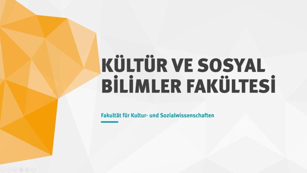 Kültür ve Sosyal Bilimler Fakültesi